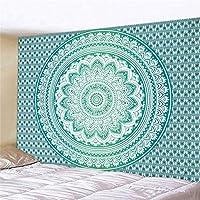 タペストリー マンダラポリエステルスクエアタペストリーの壁の家のベッドルームの装飾用カーペットスローヨガマットハンギング (Color : 5, Size : 180x230cm)