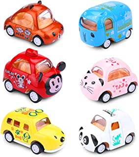 EsOfficce Pull Back Cars, Pull Back Vehicles,Cute Mini Animals Toy Cars, Metal Die Cast Cars, Party Favors for Toddlers Boys and Girls 3 Year +
