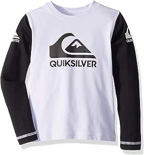 Quiksilver Children (youths) Heats On Ls Boy White Surfing Rashguard Size 3