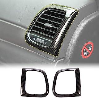 JeCar Center Console Air Condition Vent Trim Interior Accessories for 2011-2019 Jeep Grand Cherokee, Carbon Fiber Texture