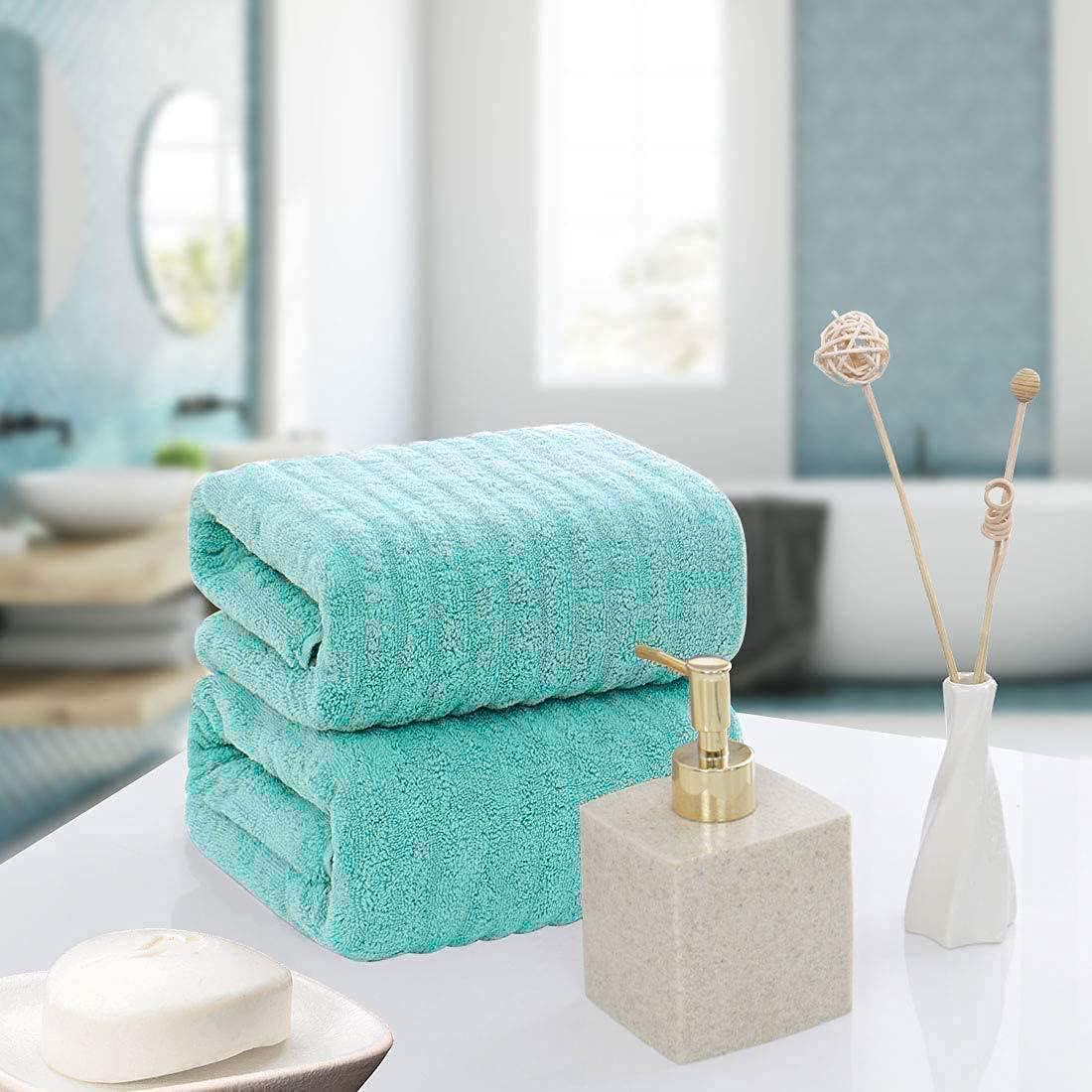 A surprise price is realized Bath Towel Sets- Set of 2- Orga Aqua Blue- Quick Towel- Super special price Dry