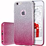 MILPROX Bling Glitter Pretty Sparkle 3 Layer Hybrid Anti-Slick/Protective/Soft Slim TPU Case Compatible