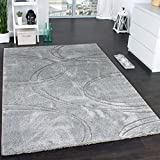 [page_title]-Paco Home Teppich Einfarbig Designerteppich mit Handgearbeitetem Konturenschnitt Uni Grau, Grösse:200x290 cm