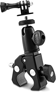 kwmobile Soporte de cámara Deportiva para Manillar de Bicicleta - Base Universal Antideslizante de Metal - Nikon Canon Olympus Fujifilm Samsung
