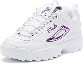 Fila Disruptor II Womens Metallic White/Lavender Trainers