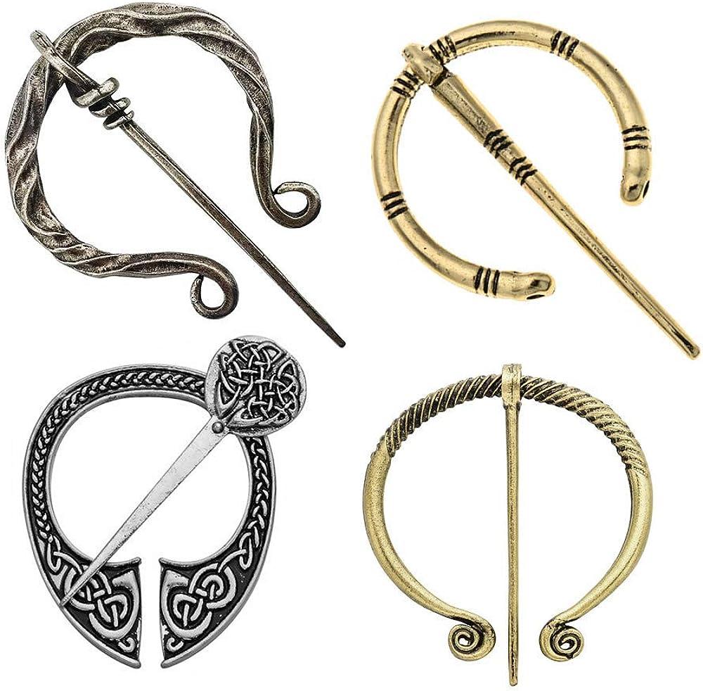 4 Pack Women Girls Brooches Atlanta Mall Vintage NEW Pins Vi Medieval Decorative