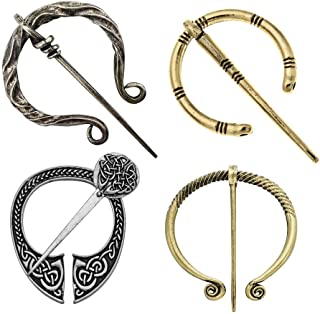 Vintage Cloak Pins Medieval Shawl Clasp Scarf Brooch Pin Celtic Viking Jewelry Accessory for Women Men