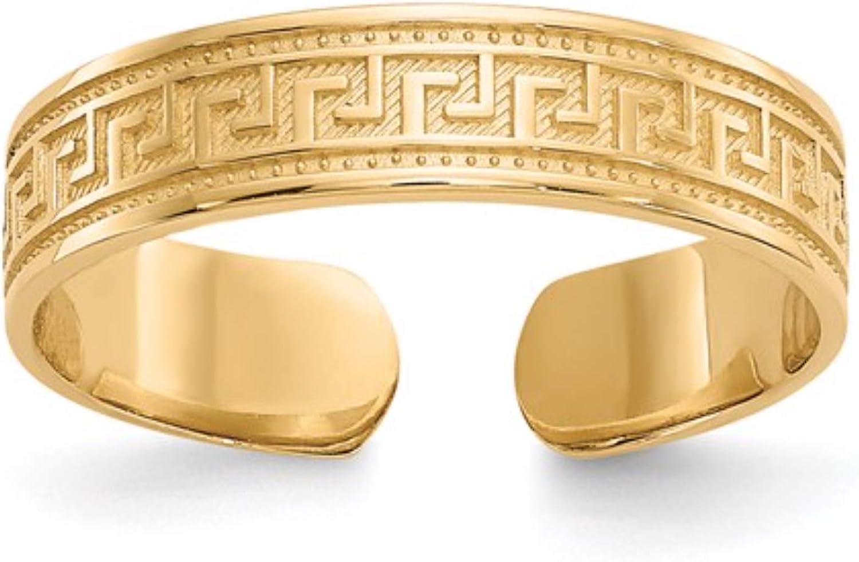 Nina's 14k Yellow Gold Greek Key Toe Ring