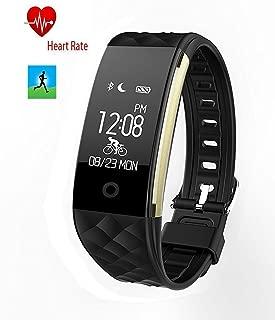 Smart Heart Rate Sports Bracelet Heart Rate Monitor Bracelet Bluetooth Fitness Wristband Precision Dynamic Heart Rate Active Sports Monitoring content display(Black)