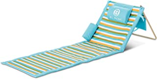 B.L. PICNIC Portable Beach Mat, for The sunbather with Pillow and Removed Bag -Blanket Gift idea