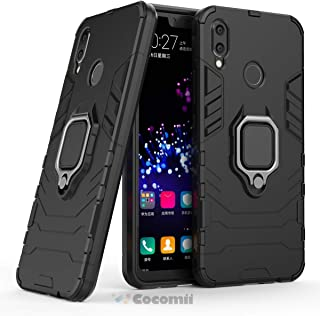 Cocomii Black Panther Armor Huawei Nova 3i/P Smart+ Plus Case New [Heavy Duty] Tactical Metal Ring Grip Kickstand Shockproof [Works with Magnetic Car Mount] Cover for Huawei Nova 3i (B.Jet Black)