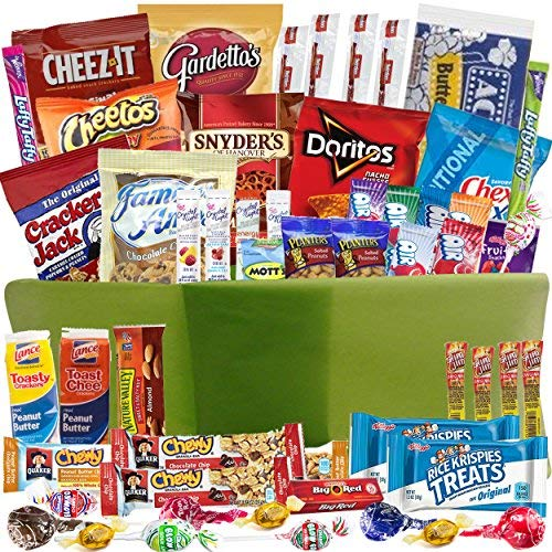Gift Basket with Sweet and Salty Snacks