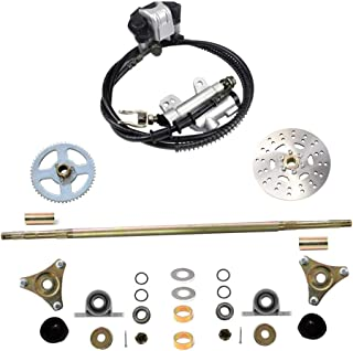 WPHMOTO Rear Axle Assembly Complete Wheel Hub Kit & Brake Assembly for Go Kart Quad Trike Drift Bikes