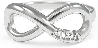 Alpha Xi Delta Sterling Silver Sorority Infinity Ring