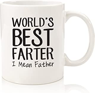 Fathers Day Gifts For Dad - World's Best Farter/Father Funny Mug - Best Dad or Husband Gift - Gag Present Idea For Him From Son, Daughter, Wife - Unique Birthday Gift For Men, Guys - Fun Novelty Cup