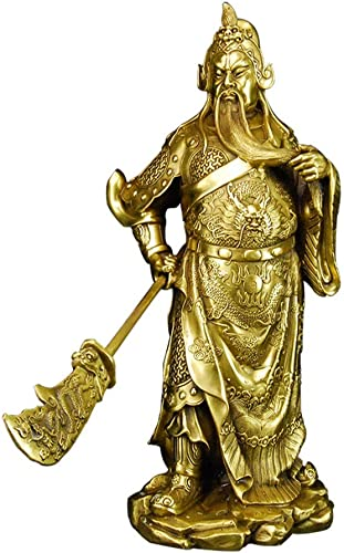 primera reputación de los clientes primero Cobre Puro Kowloon Guan Gong Estatua de de de Bronce 38 cm Wu Caishen Regalos de Apertura Lucky Town House Decoration Feng Shui Crafts  bajo precio del 40%