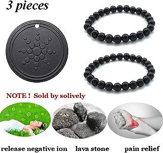 Anti Radiation Shield EMF Neutralizer Negative Ions Energy Pendant & Magnetic  Bracelet for men and women (pendant and bracelet)