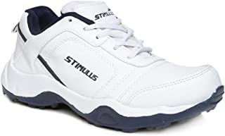 PARAGON Stimulus Men's White & Blue Sports Shoes