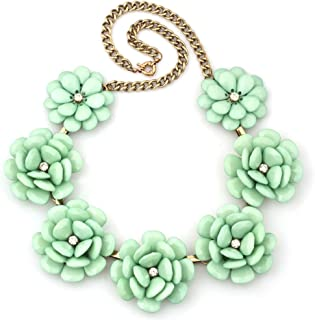 Best green flower necklace Reviews