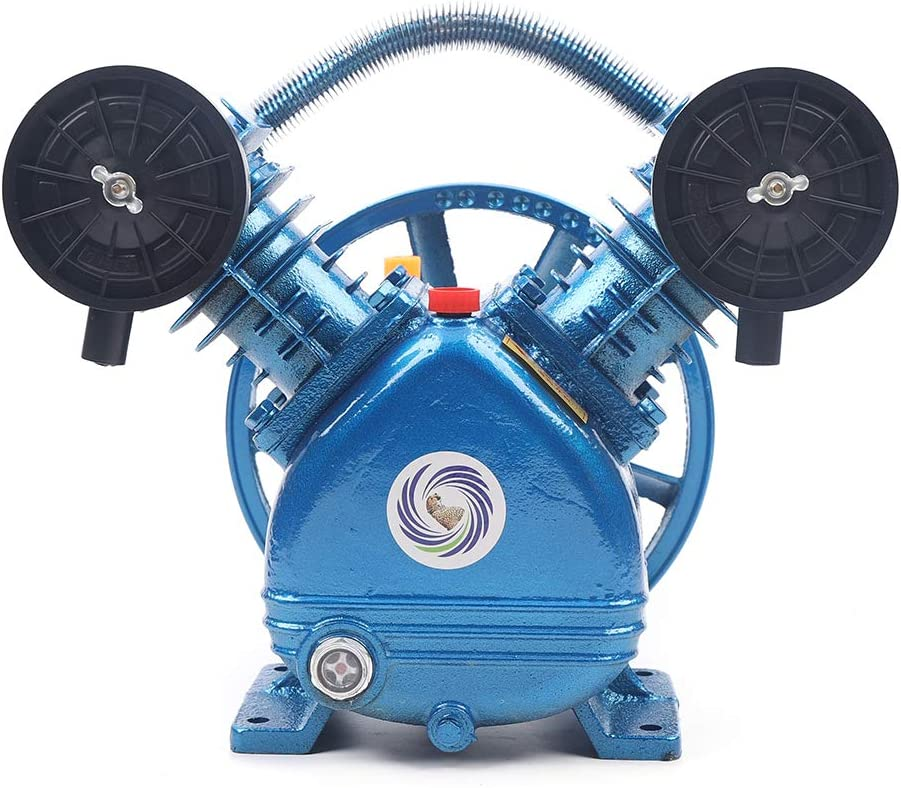 1500W 5 ☆ very popular 115PSI 2HP V-Style Twin Compressor Pump Motor Air Max 79% OFF Cylinder