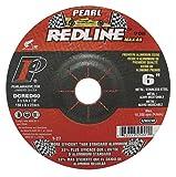 Pearl Redline 6' x 1/4' x 7/8' Depressed Center Grinding Wheel (Pack of 10)