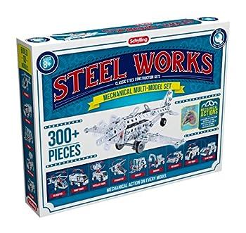 Schylling Steel Works Mechanical Multi-Model Construction Building Kit