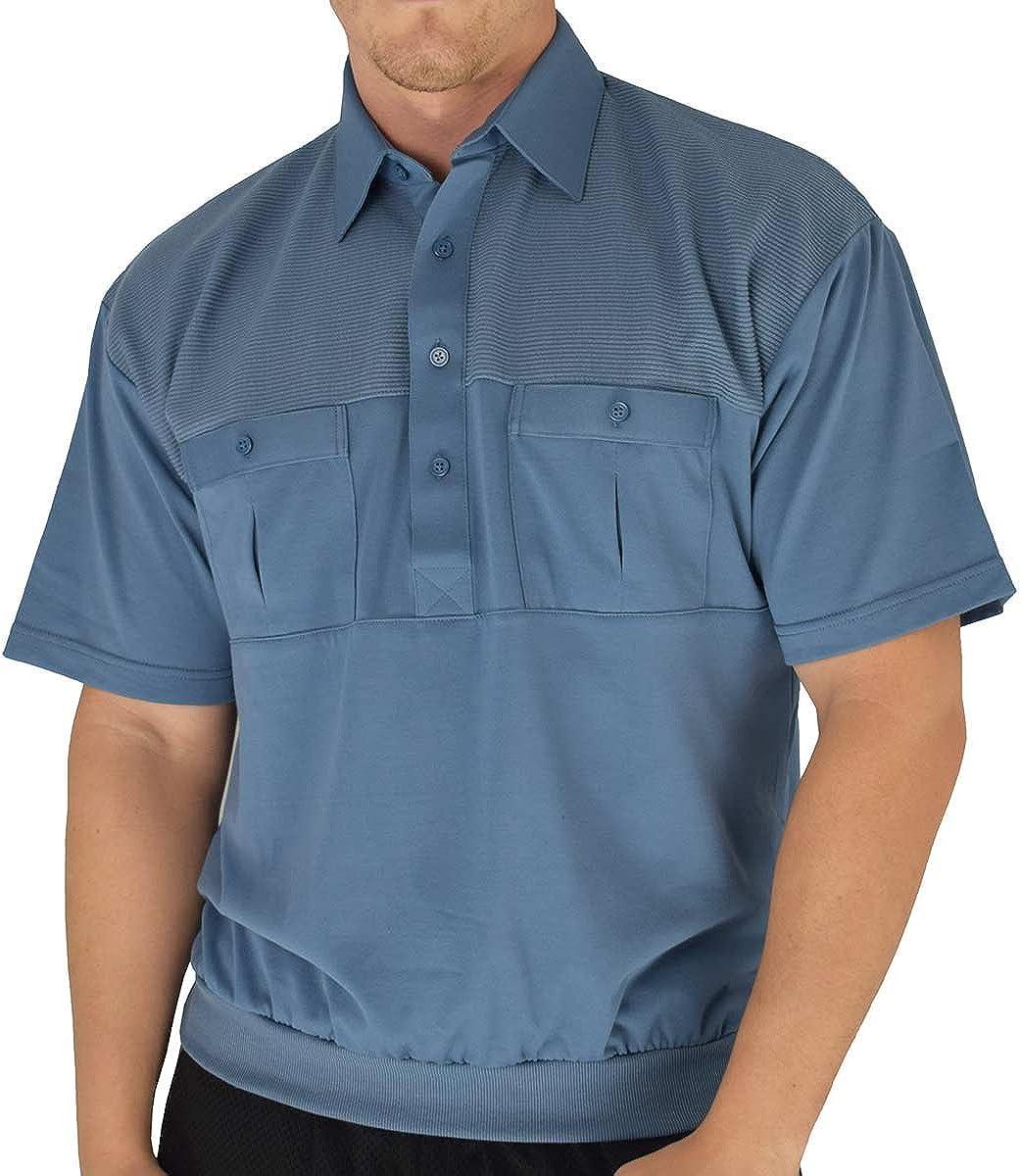 Palmland Classic 2 Pocket Solid Banded Bottom Polo Shirt Big and Tall