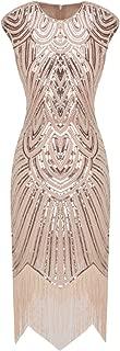 1920s Sequined Embellished Tassels Hem Flapper Dress D20S002