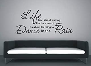WonderDecals Learn to Dance in The Rain Vinyl Wall Decal Art Decor WD2761