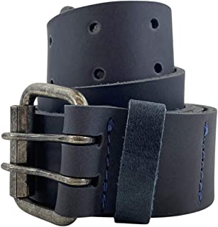 Hide & Drink, Rustic Leather Belt/Rustic Double Prong Buckle, (1.5 in.)