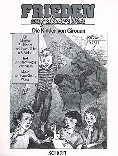 Frieden auf dieser Welt: (Die Kinder von Girouan). 1-3 stimmiger Chor, Solostimmen, Sprecher, Flöte, 2 Keyboards, Akkordeon, Klavier, Violoncello, ... oder Elektro-Gitarre, Schlagzeug. Partitur.