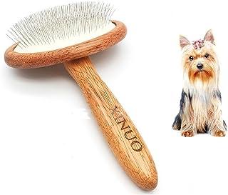 Cepillo de descarga para perros y gatos, cepillo de descarga para mascotas que elimina fácilmente