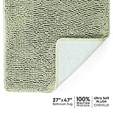 Tafts Bathroom Rugs and Mats Sets, Ultra Soft Chenille Microfiber, Absorbent Non-Slip Machine Washable Shaggy Rugs, Super Plush Bath Mat for Bathroom, Shower & Tub, 27'x47', Sage Green