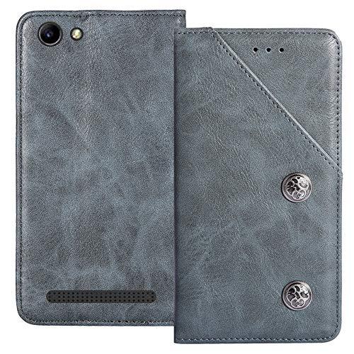 YLYT Flip Blue Schutz Hülle Hülle Für Archos 40 Power 4 inch Etui Leder Tasche Handyhülle Hochwertiges Stoßfeste Kartenfach Cover