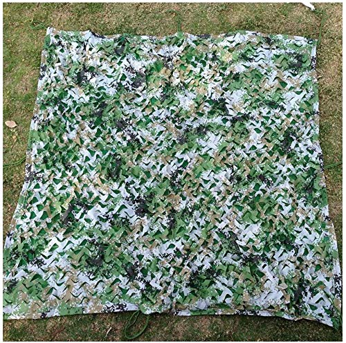 Waterdicht op zwaar werk berekend zeildoekcamouflagenet, drielaags 210d Jungle Digital Camouflage Outdoor Multifunctioneel zonnescherm Auto-decoratienet, multi-maat voor autotuin Dak camouflagetent