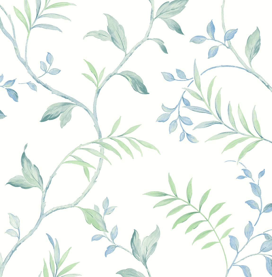 NextWall Watercolor Leaf Trail unisex and Peel Stick Super special price Wallpaper