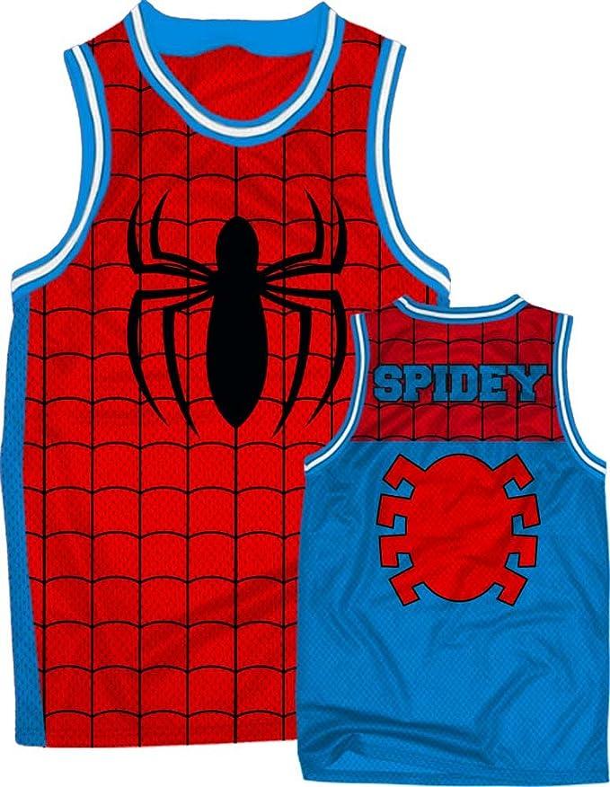 Marvel Spiderman Men's Spiderman Parks Basketball Jersey T-Shirt