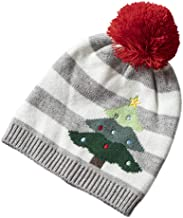 Iusun 1-5 Age Unisex Children's Winter Christmas Matching Color Winter Beanie Earmuffs Hat Knitting Warm Chunky Baggy Skull Slouch Stretch Cap with Pom Pom