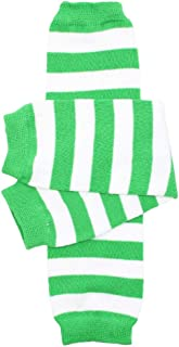 baby girls and toddler Green & White Stripe leg warmers Green & White One Size 12 inches