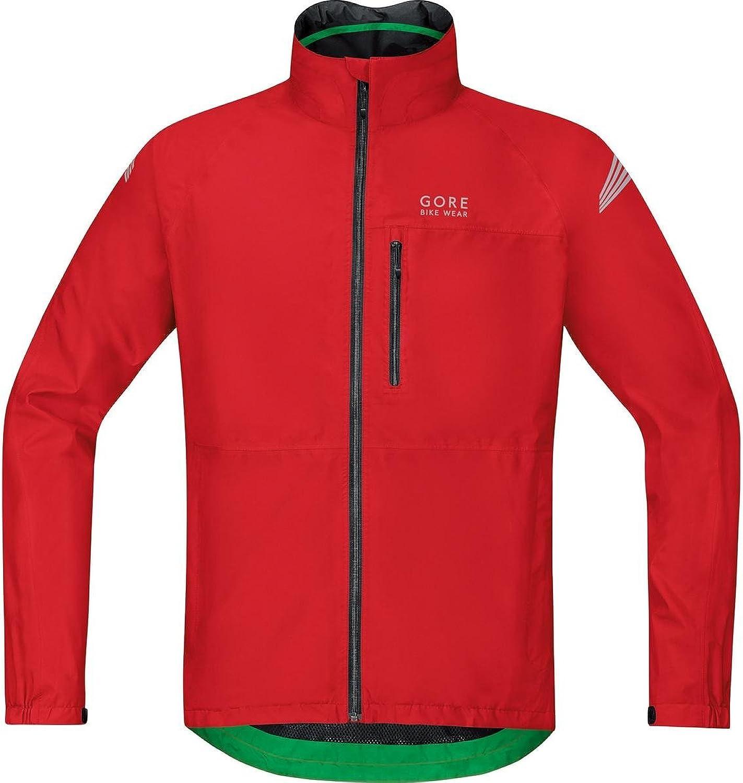 GORE BIKE WEAR Men's Cycling Rain Jacket, SuperLight, GORETEX, ELEMENT GT Jacket, Size S, Red, JGMELE