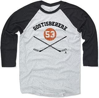 500 LEVEL Shayne Gostisbehere Shirt - Vintage Philadelphia Hockey Raglan Tee - Shayne Gostisbehere Sticks