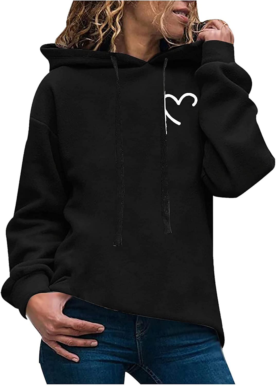 Women's Oversized Hoodies Tops Casual Long Sleeve Drawstring Lightweight Pullover Sweatshirts