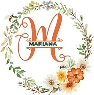 MARIANA: Cute Initial Monogram Letter M