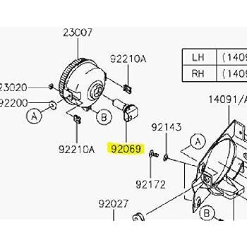 Amazon Com Kawasaki Oem Headlight Replacement Bulb Mule 600 610 06 15 92069 0012 Automotive