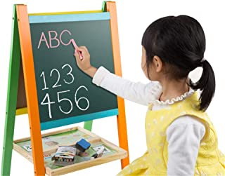 Children's Drawing Board Portable Household Color Wooden Painting Blackboard Folding Wooden Double-Sided Magnetic Drawing ...
