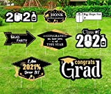 Extenuating Threads Graduation Yard Signs Outdoor Decorations - Class of 2021 Lawn Party Décor Supplies with Stakes - Set of 8