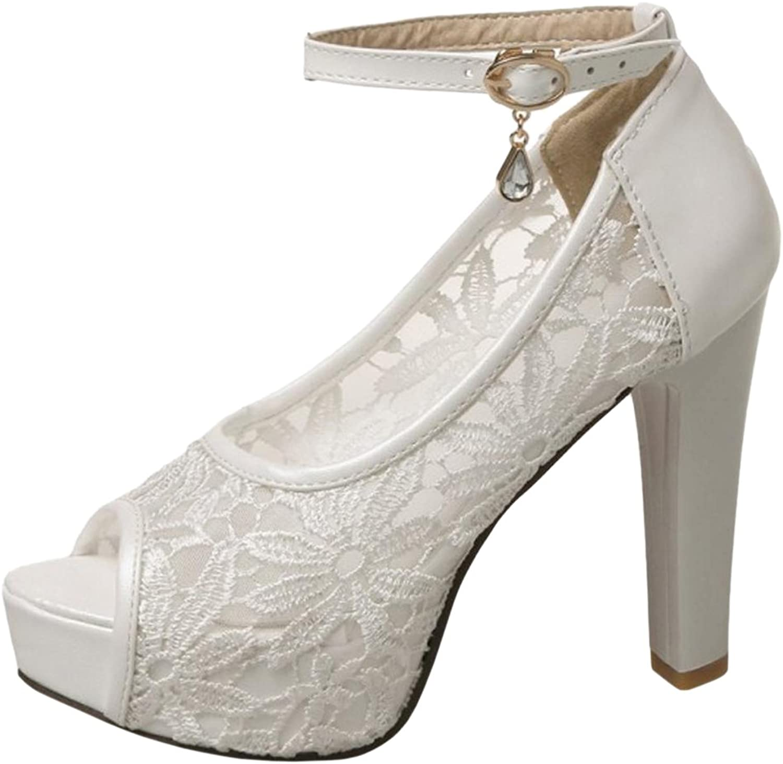 TAOFFEN Women's Peep Toe Sandals Platform shoes