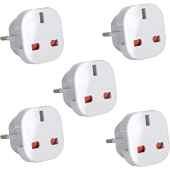 Gadgets Hut UK - 5 x UK to EU Europe European Travel Adapter suitable for France, Germany, Spain, Egypt, China - Refer to Product description for Country list