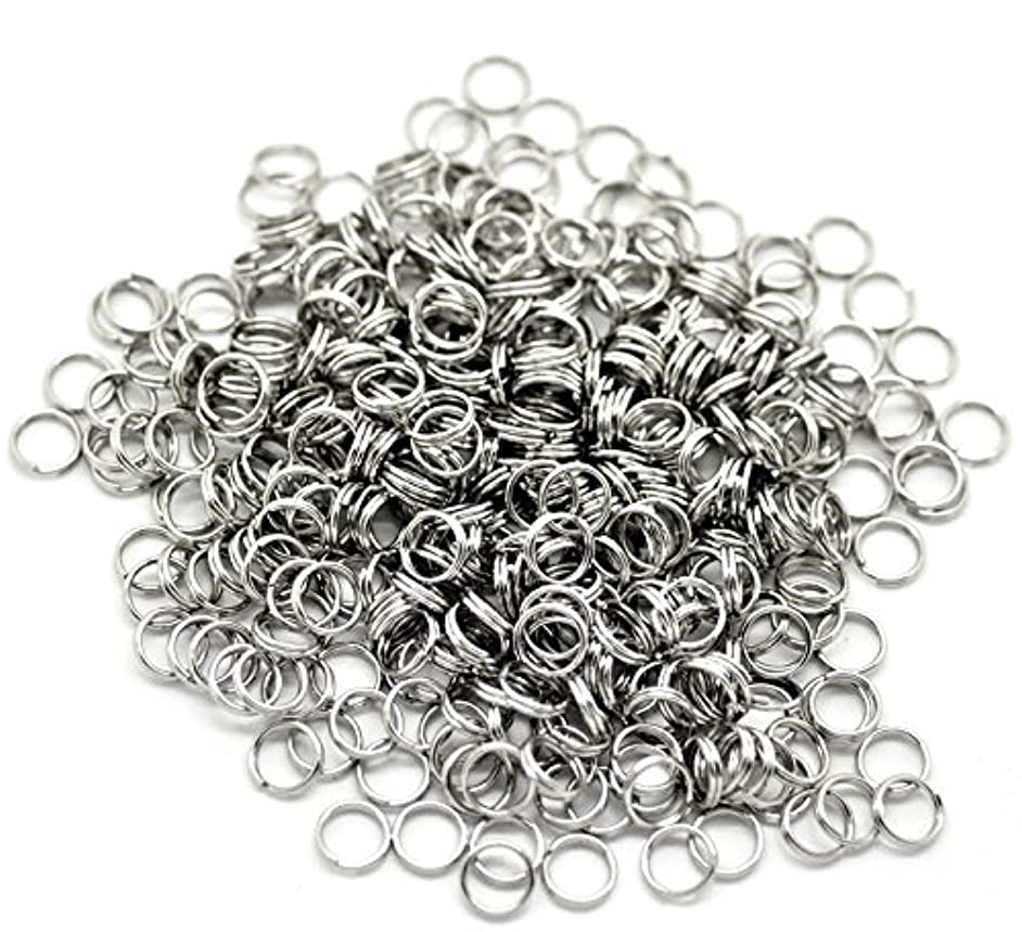 PEPPERLONELY Brand 500PC Stainless Steel Split Rings 7mm