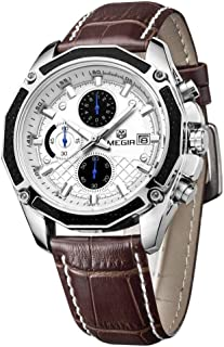 Megir Dress Watch For Men Analog Leather - MG2015K